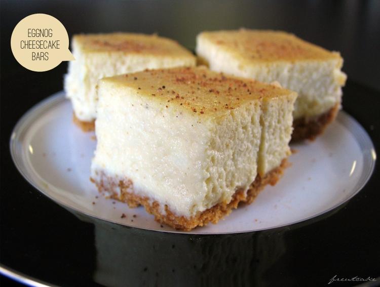 Eggnog Cheesecake Bars - freutcake | Freutcake