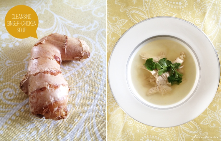 Cleansing Ginger-Chicken Soup - recipe via Bon Appetit