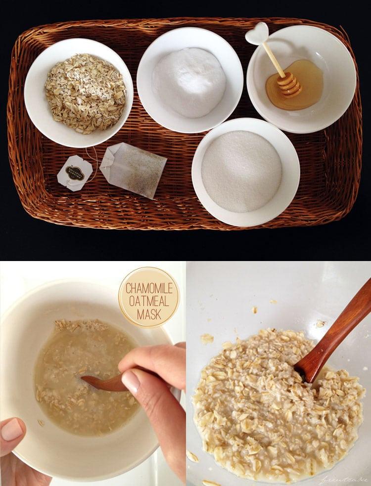 Chamomile Oatmeal Face Mask - freutcake