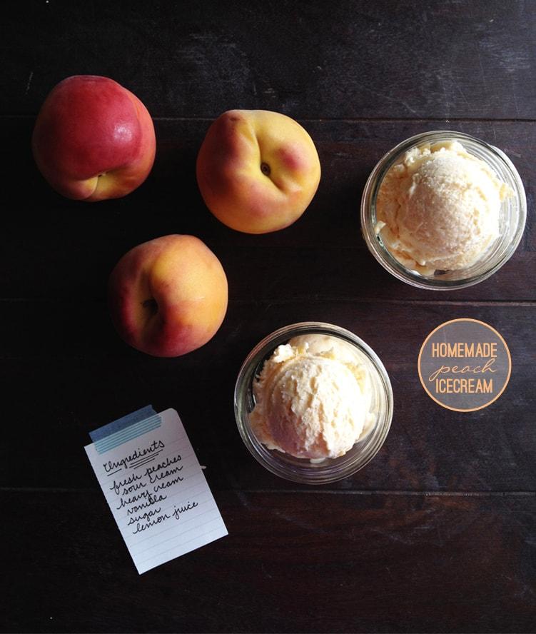 homemade peach icecream recipe 1 Homemade Peach Ice Cream