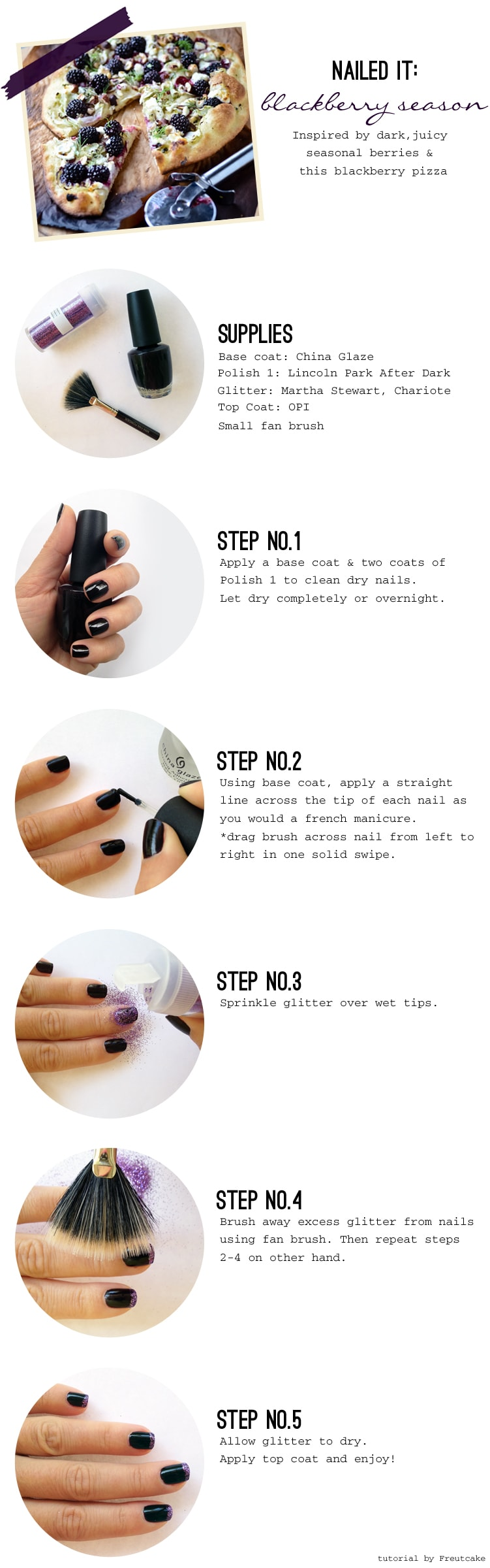 how to blackberry manicure {Nailed It} Blackberry Season