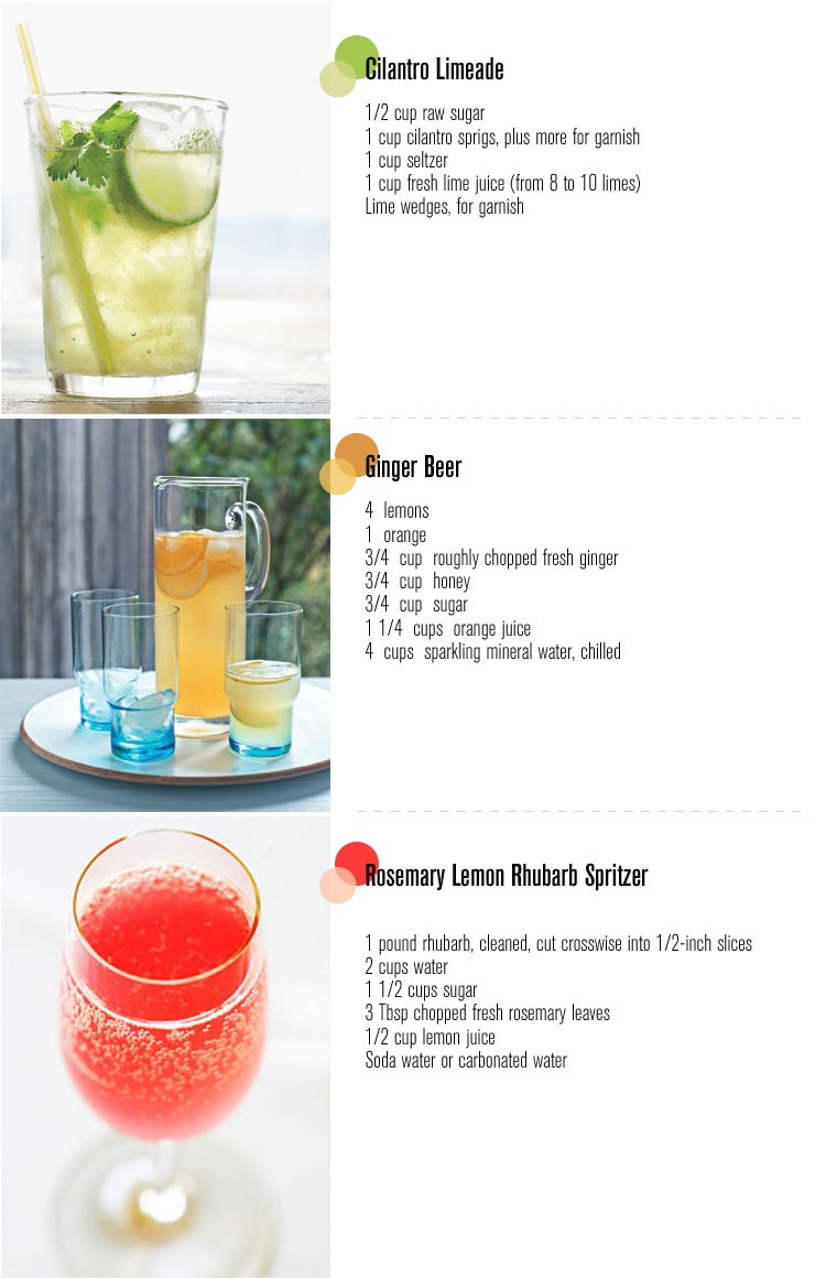 summer drink recipes Three Summer Drinks