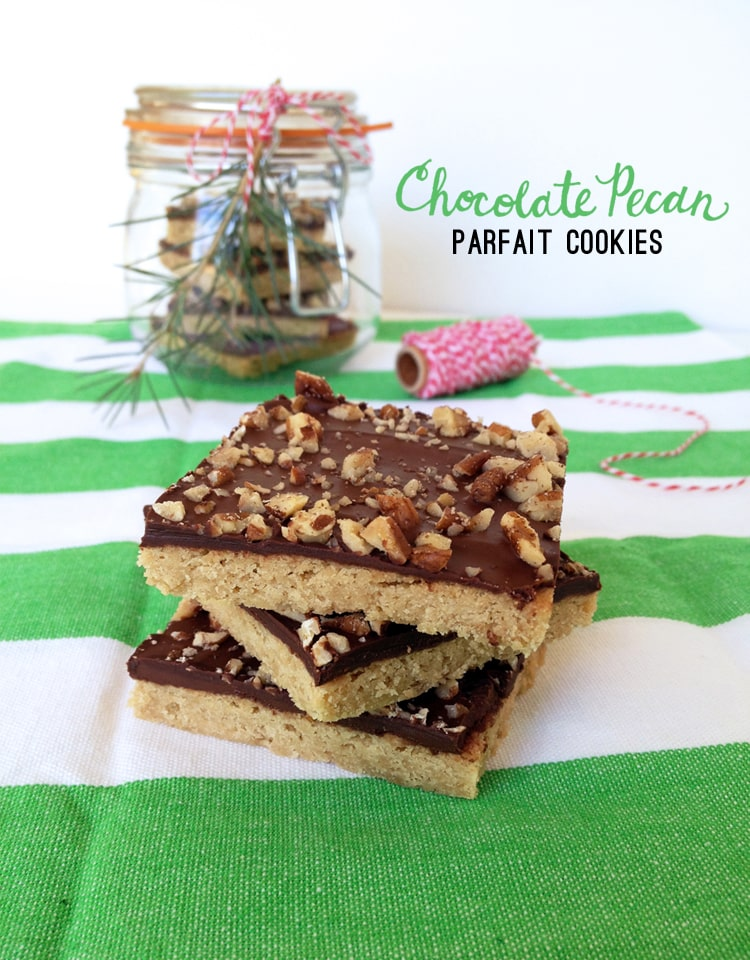 Chocolate Pecan Parfait Cookies 1 Chocolate Pecan Parfait Cookies