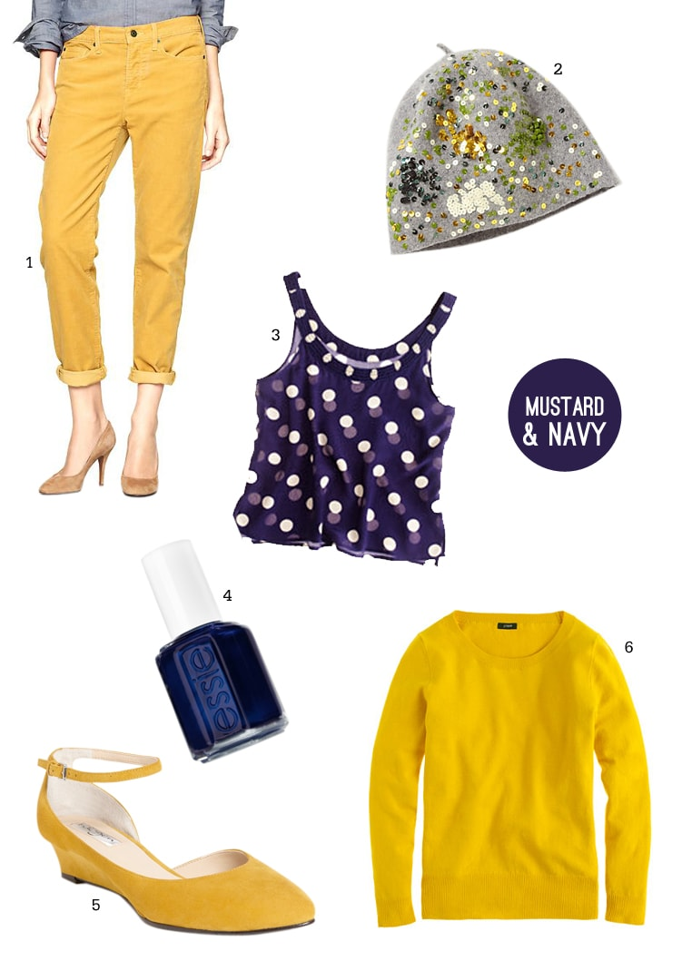 Mustard and Navy A Mustard & Navy Palette