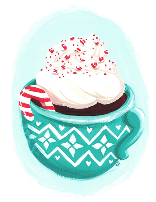 December Peppermint illustration Ann Shen for Freutcake 4 Ways to Use Candy Canes