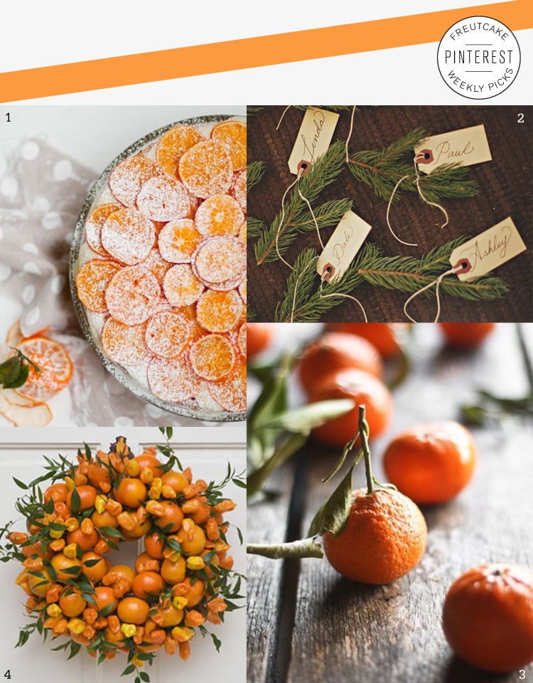Weekend Inspiration oranges 2 pin picks Christmas Orange