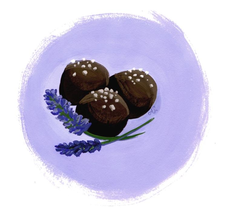 1302 lavendertruffle web Chocolate Lavender Truffles