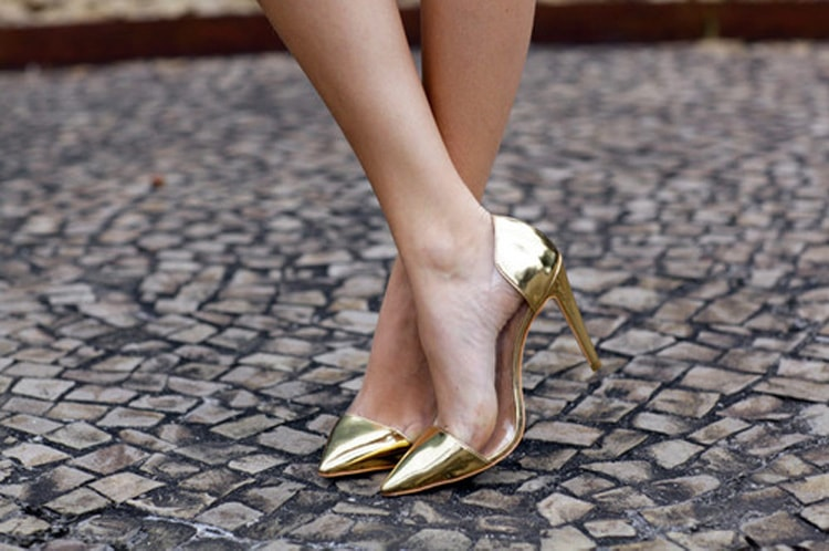 Metallic Gold Heels Lately Im Loving