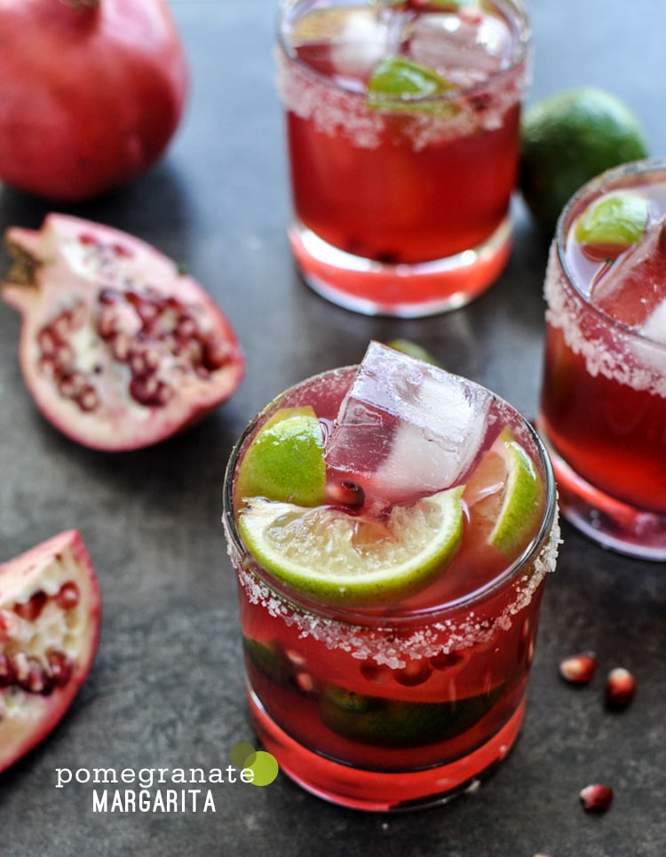 pomegranate margarita {Cocktail Friday} Pomegranate Margarita