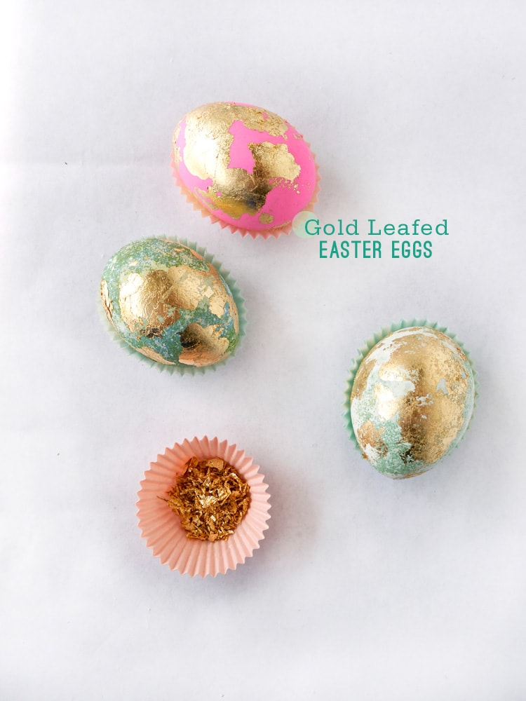 Gold Leafed Easter Eggs 1 Gold Leaf Easter Eggs