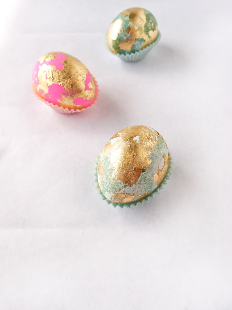 Gold Leafed Easter Eggs 7 Gold Leaf Easter Eggs