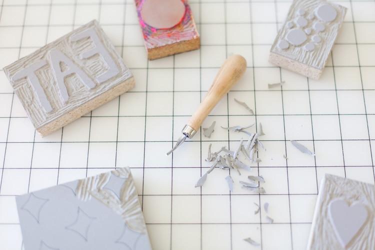 Diy Wood Block Printed Napkins