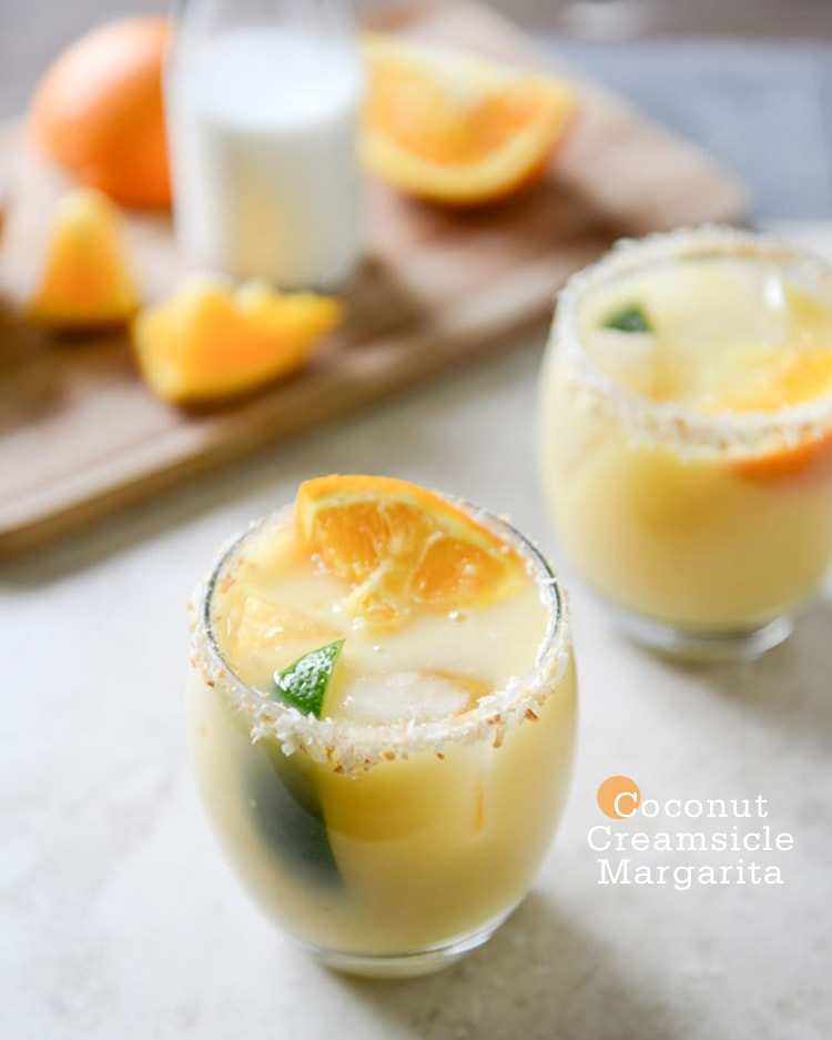 Coconut Creamsicle Margarita {Cocktail Friday} Coconut Creamsicle Margarita