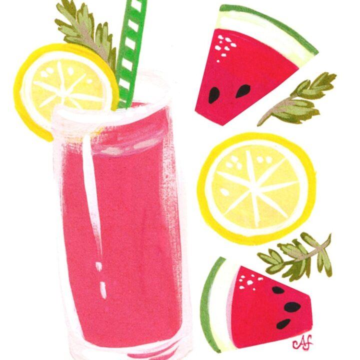Watermelon-Lemonade-Freutcake