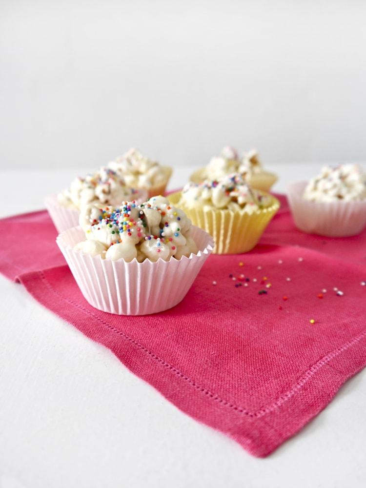 Funfetti Cake Batter Popcorn Balls 3