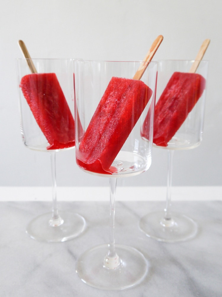 Raspberry Prosecco Popsicles 3 Raspberry Prosecco Popsicles