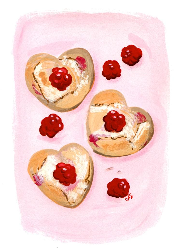 Raspberry Scones Freutcake Easy Raspberry Scones