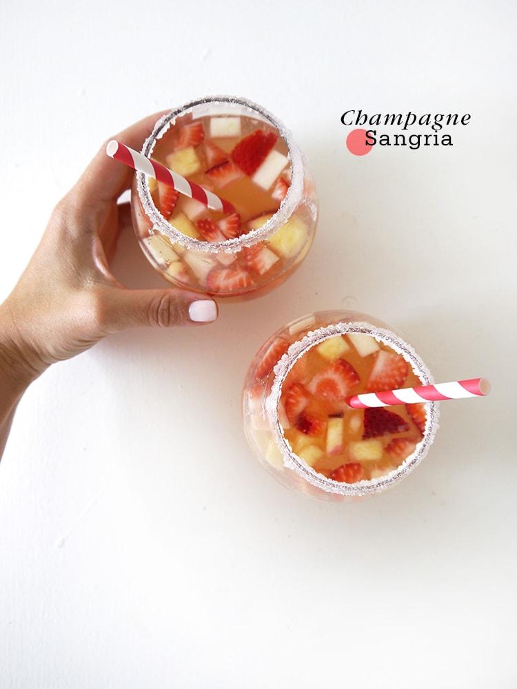 Champagne Sangria Freutcake {Cocktail Friday} Champagne Sangria