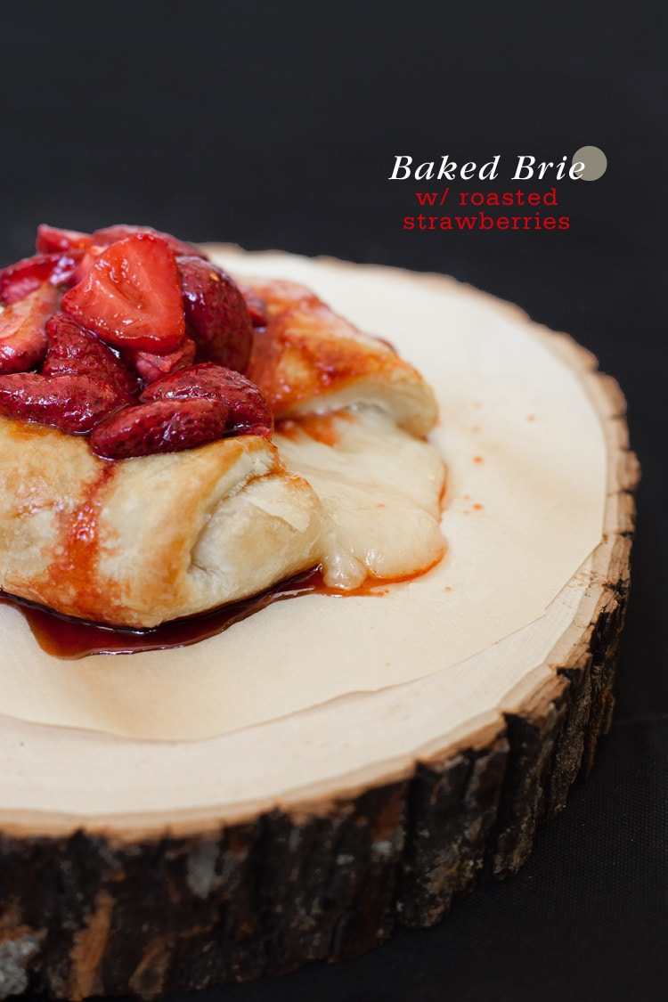 Baked Brie Roasted Strawberries 1 Baked Brie with Roasted Strawberries
