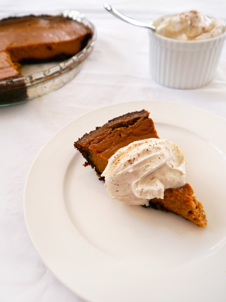 cheese and butterscotch pumpkin pie s with gingersnap streusel topping ...