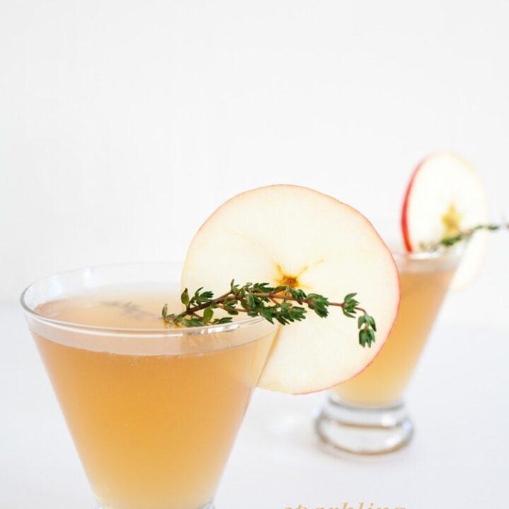 Sparkling Apple Rum Punch Cocktail