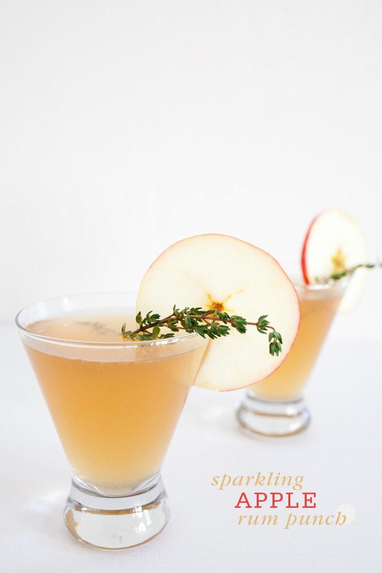sparkling apple rum punch calls for sparkling apple cider dark