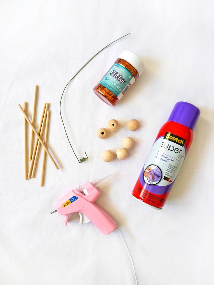 Supplies DIY Pumpkin Swizzle Sticks