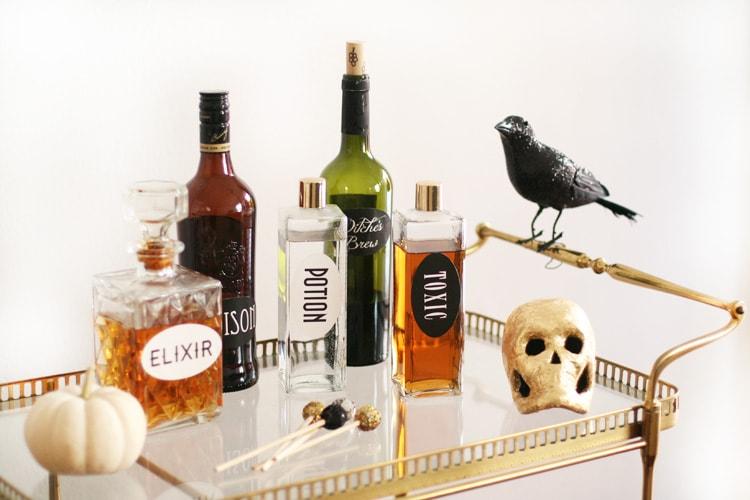 halloween-bar-cart