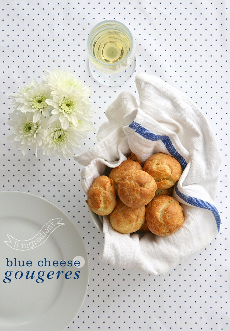 5 Ingredient Blue Cheese Gougeres 5 Ingredient Blue Cheese Gougeres