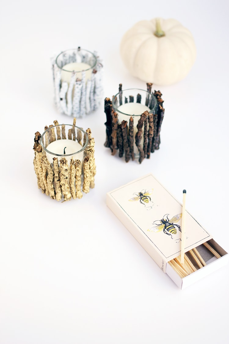 DIY Twig Votive Candle Holders 2 DIY Twig Votive Candle Holders