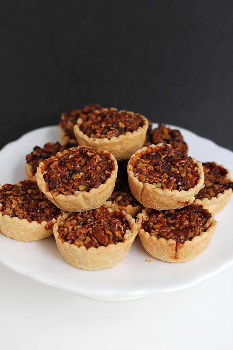 Mini Bourbon Chocolate Pecan Pies