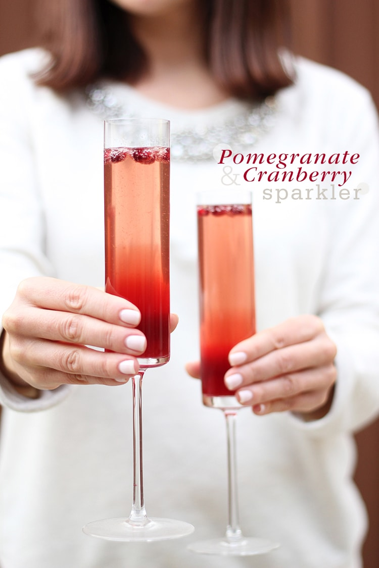 Cocktail Friday} Pomegranate-Cranberry Sparklers