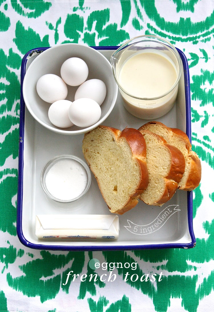 5 Ingredient Eggnog French Toast