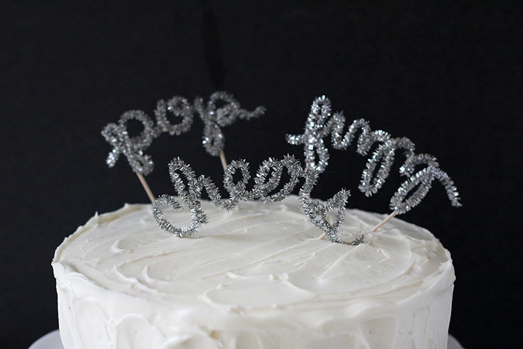 DIY New Year s Eve Cake Topper