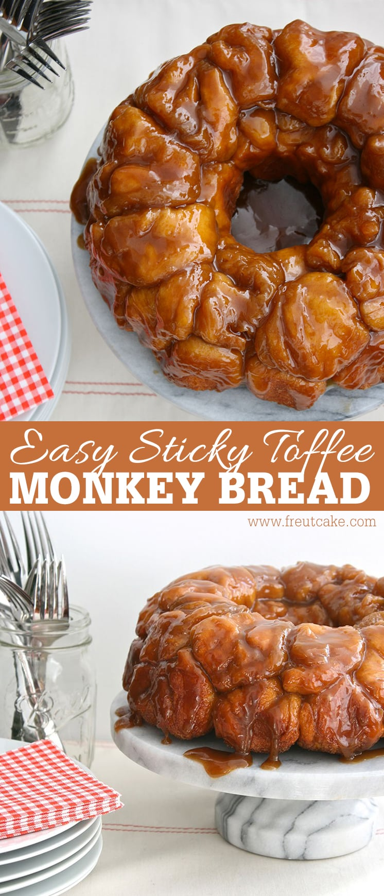 Easy 5 Ingredient Sticky Toffee Monkey Bread