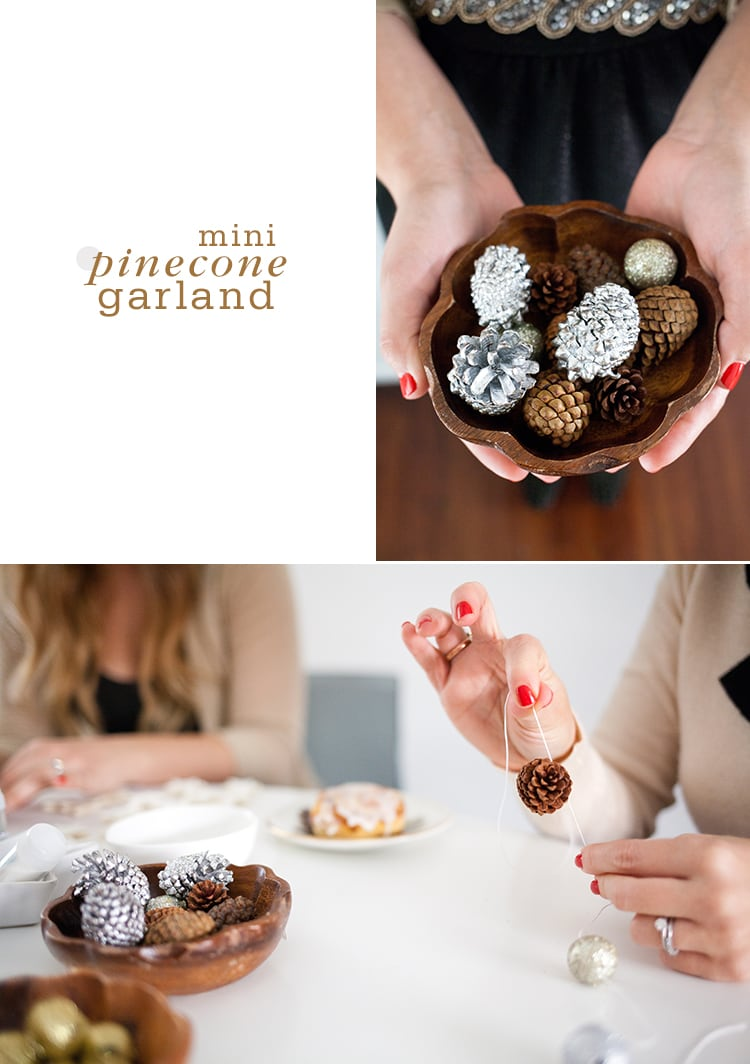 Mini Pinecone Garland Trim the Tree with Four Homemade Garlands