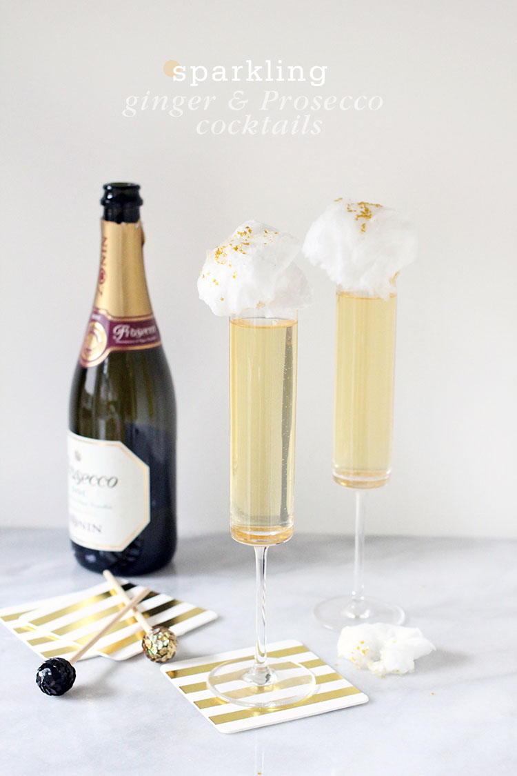 New Year's Eve Ginger Prosecco Cocktails