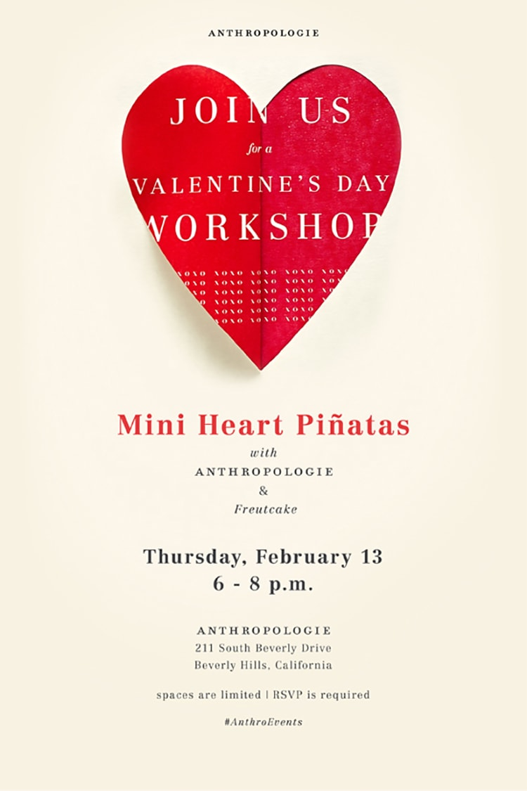 Freutcake + Anthropologie Valentine's Workshop