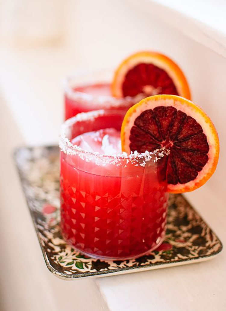Blood orange margarita Winter Citrus Recipes