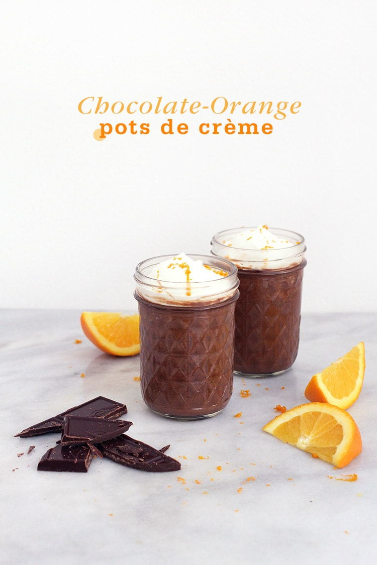 Chocolate Orange pot de creme 4 Chocolate Orange Pots de Crème