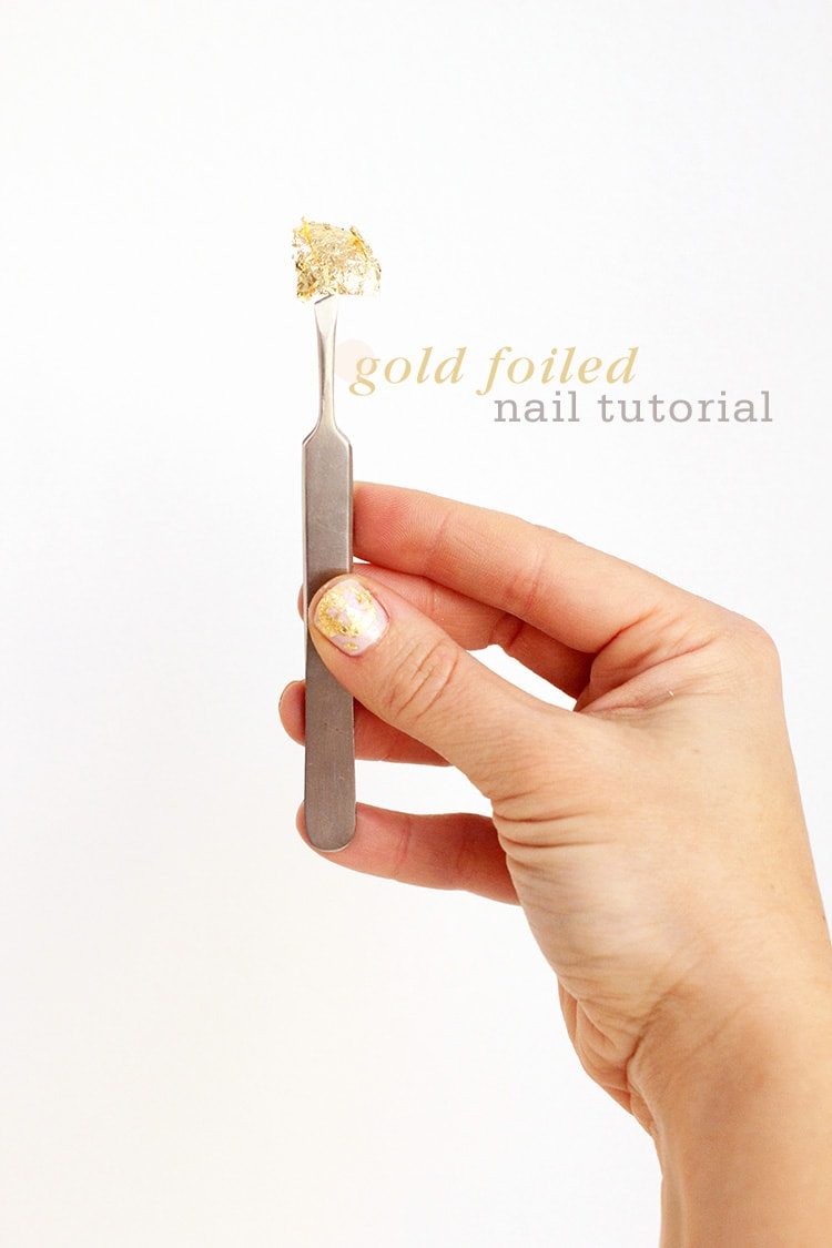 Gold Foiled Nail Tutorial Gold Foiled Nail Tutorial