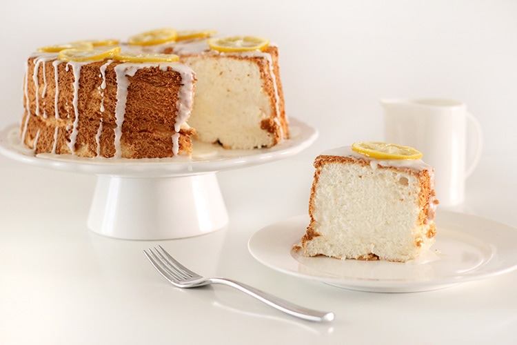 Lemon Angel Food Cake Freutcake 2 Lemon Angel Food Cake & BHG