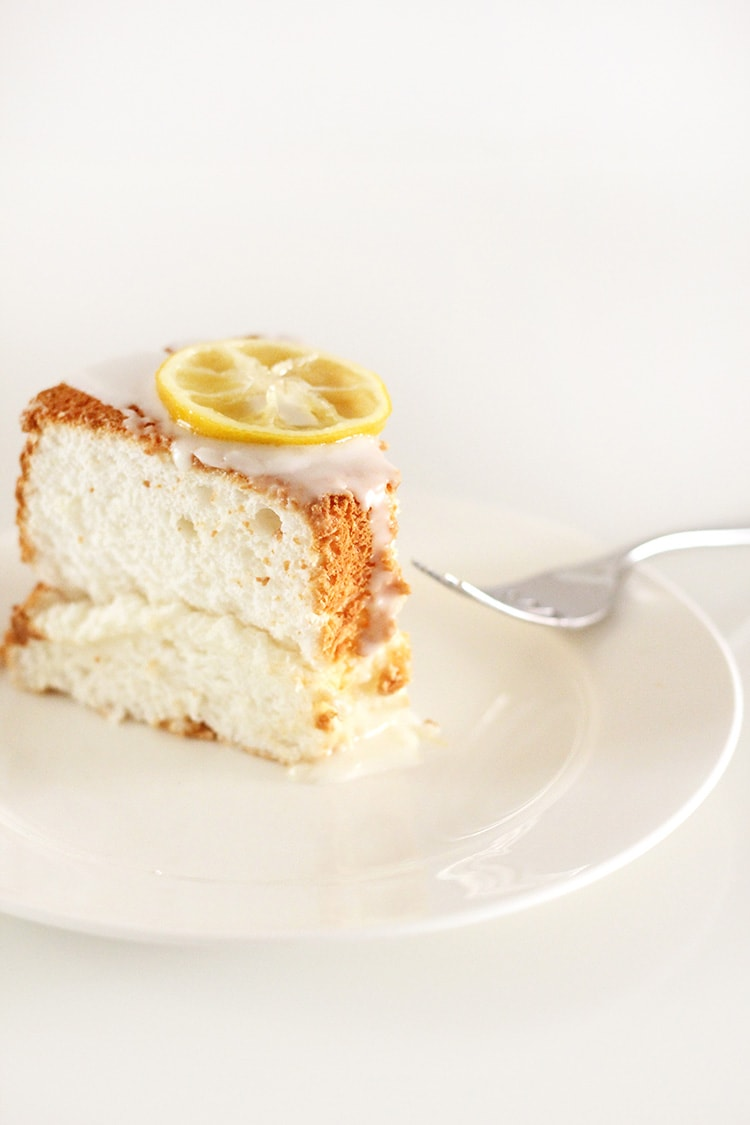 Lemon Angel Food Cake Freutcake Lemon Angel Food Cake & BHG