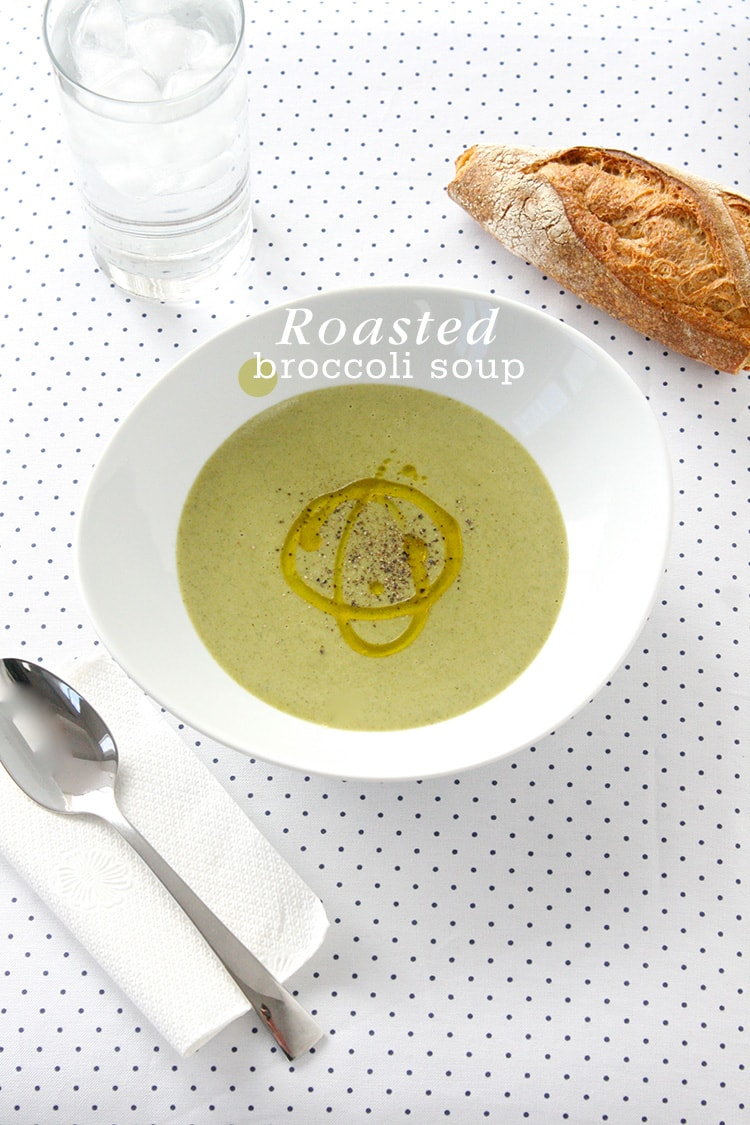 Roasted Broccoli Soup 5 Ingredient Roasted Broccoli Soup