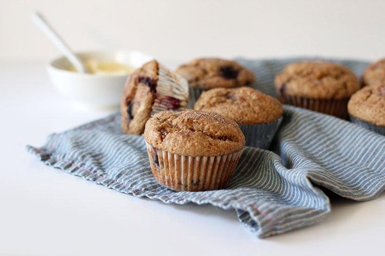 Whole Wheat Blueberry Muffins   Freutcake