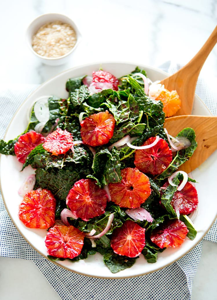kale blood orange salad Winter Citrus Recipes
