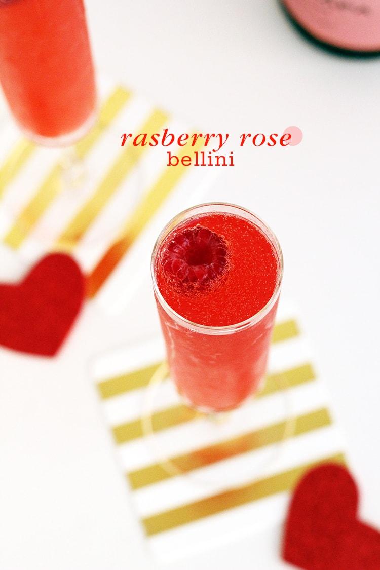 Raspberry Rose Bellini