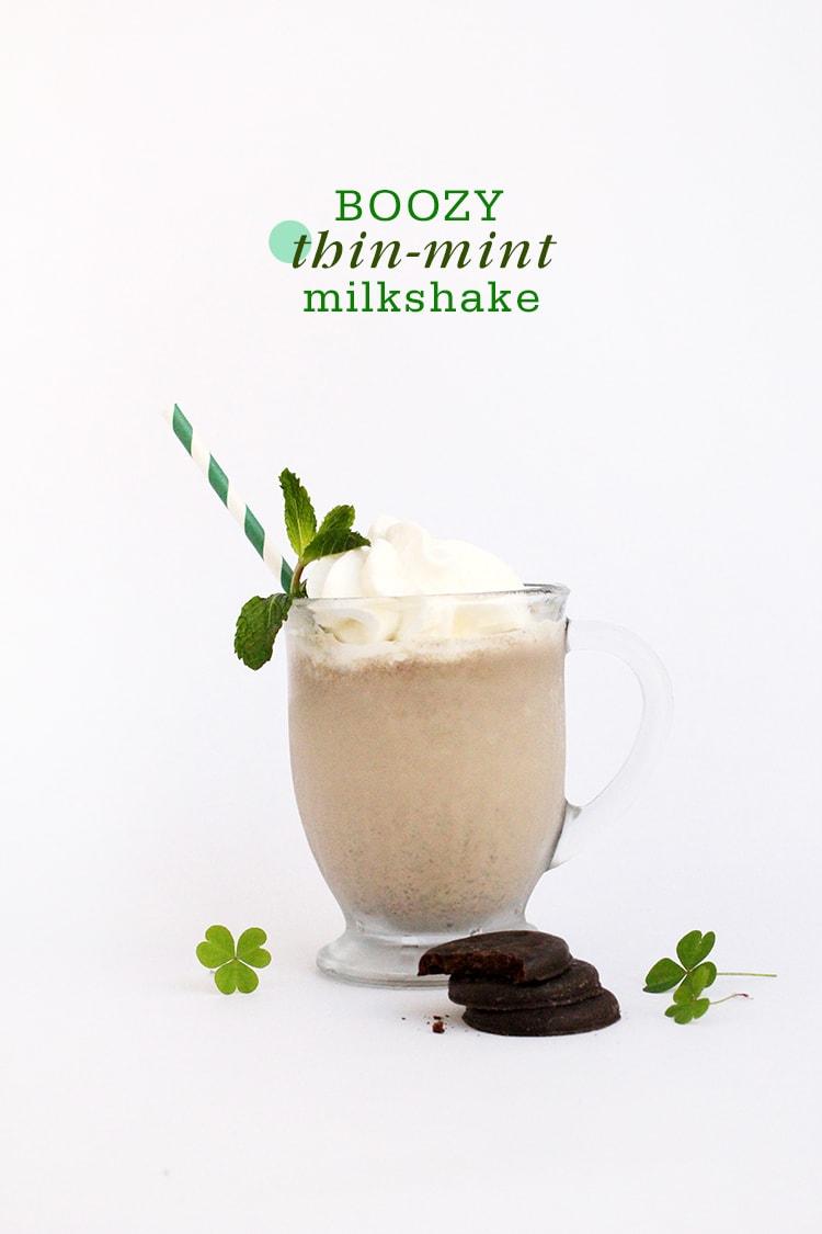 Boozy Thin Mint Milkshake Boozy Thin Mint Milkshake