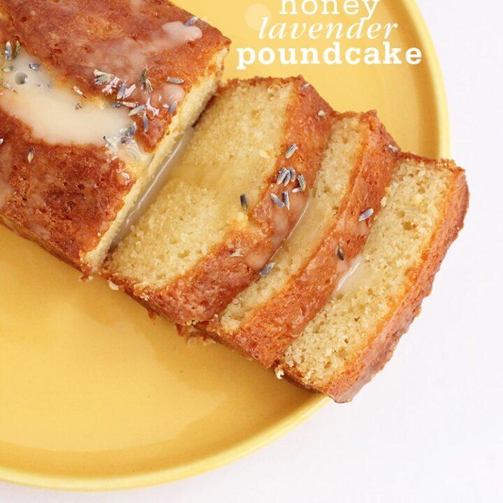 Honey Lavender Poundcake