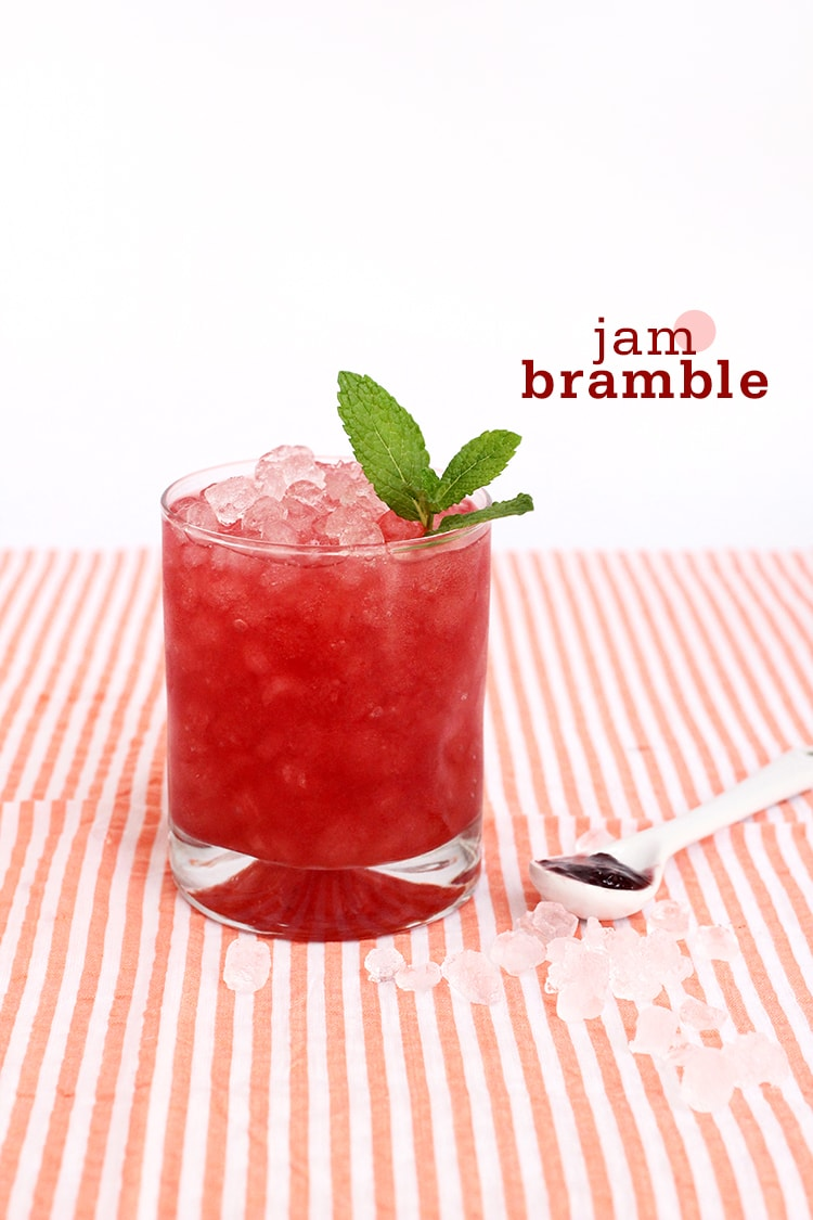 Jam Bramble Cocktail 2 {Cocktail Friday} Jam Bramble